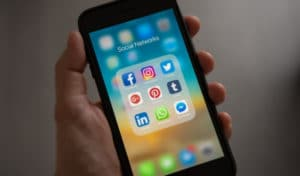 social media apps on phone