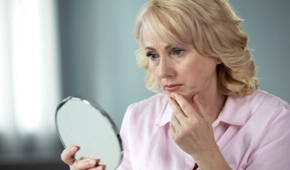 woman wishing to look younger