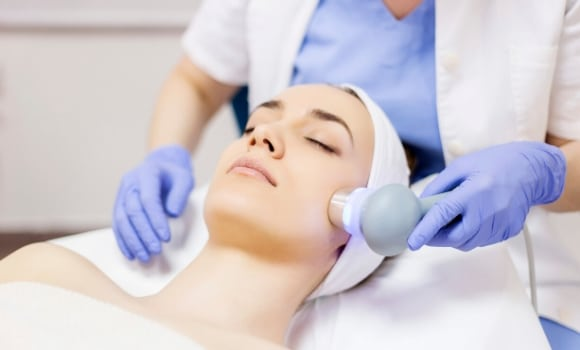 woman having a laser facial