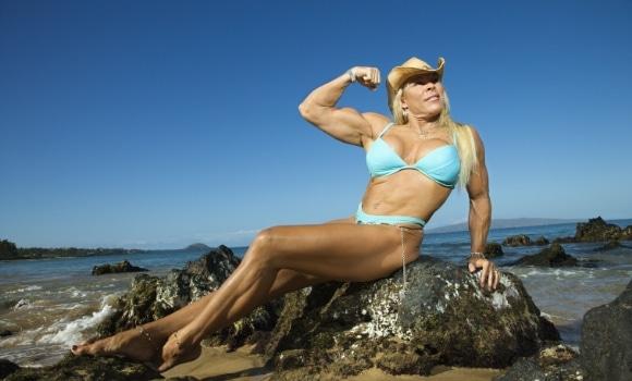 female bodybuilder with implants