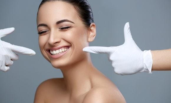 woman with amazing smile veneers