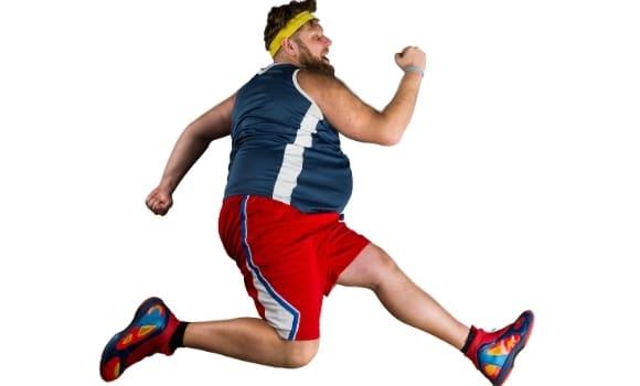 funny looking man running